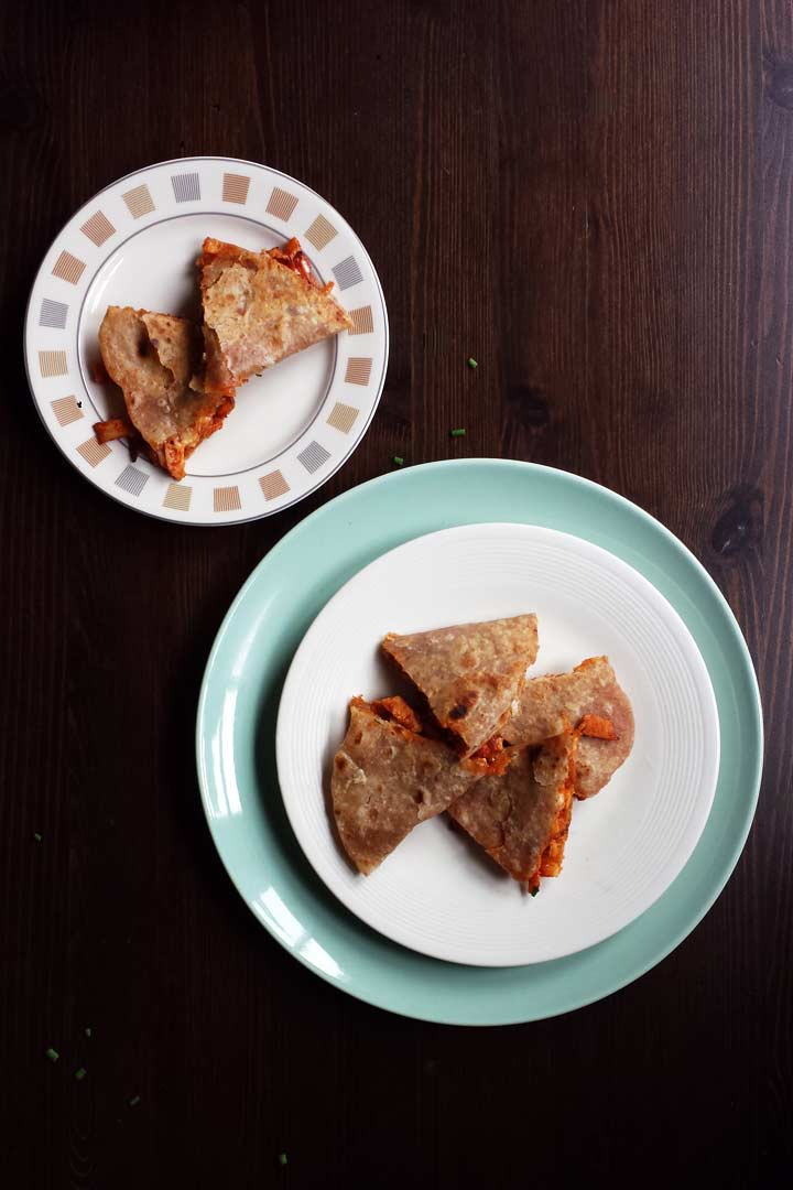 Easy chicken quesadillas recipe is very easy dinner recipe. Make with homemade tortillas and spicy tomato salsa. #thetortillachannel #chickenquesadillas #chickenquesadillasrecipe #easychickenquesadilla #heartyquesadillas