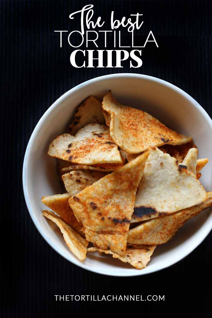 Tortilla chips made from homemade corn tortillas. Baked in the oven these are crisp and crunchy tortilla chips. Flavored with your favorite spices #thetortillachannel #tortillachips #corntortillachips