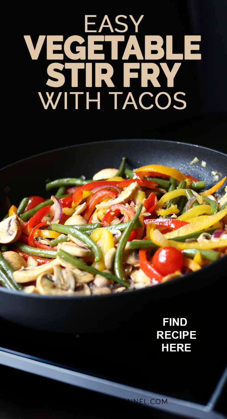 Easy vegetable stir fry with homemade tacos is a vegan recipe. An easy dinner recipe #thetortillachannel #vegetablestirfry #veganvegetabletacos