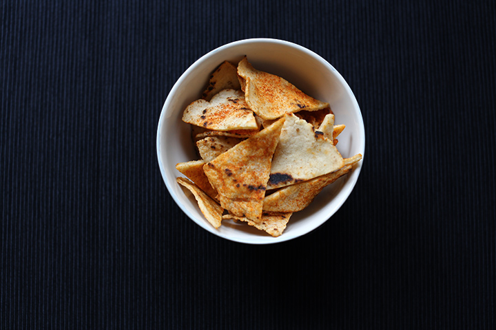 Spicy corn tortilla chips