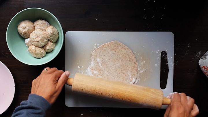 Rolling flour tortilla