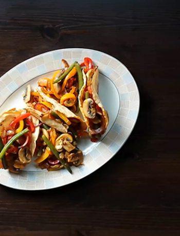Veggie frenzy stir-fry tacos