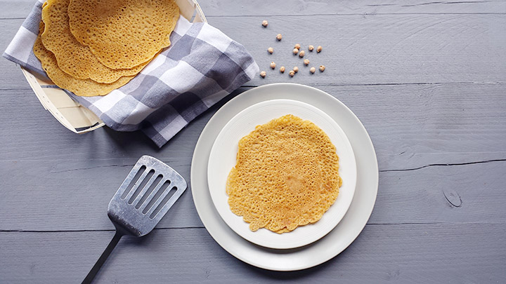 Flavory chickpea flour tortillas
