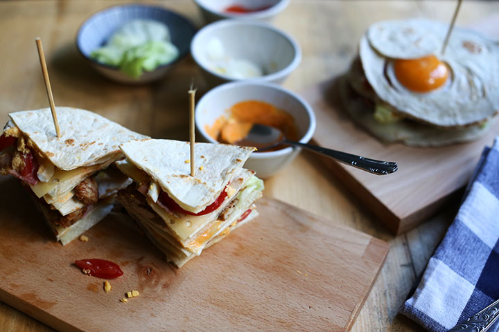 Divine turkey tortilla clubsandwich