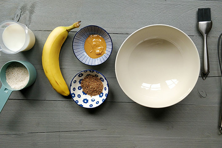 Vegan banana peanut butter pancakes ingredients