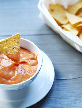 Mega easy nacho dip sauce left