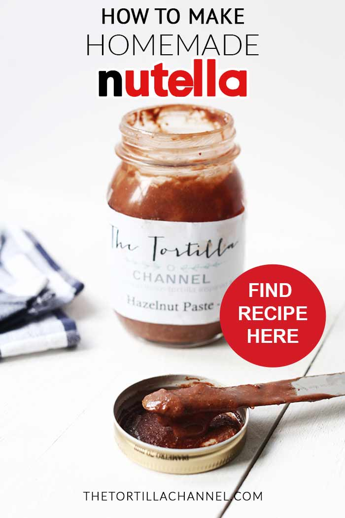 Great homemade nutella. Want to make this recipe visit thetortillachannel.com with video. #nuttynutella #hazelnutpaste #homemadenutella #nutella