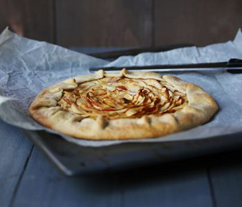 Sweet organic apple pie galette side