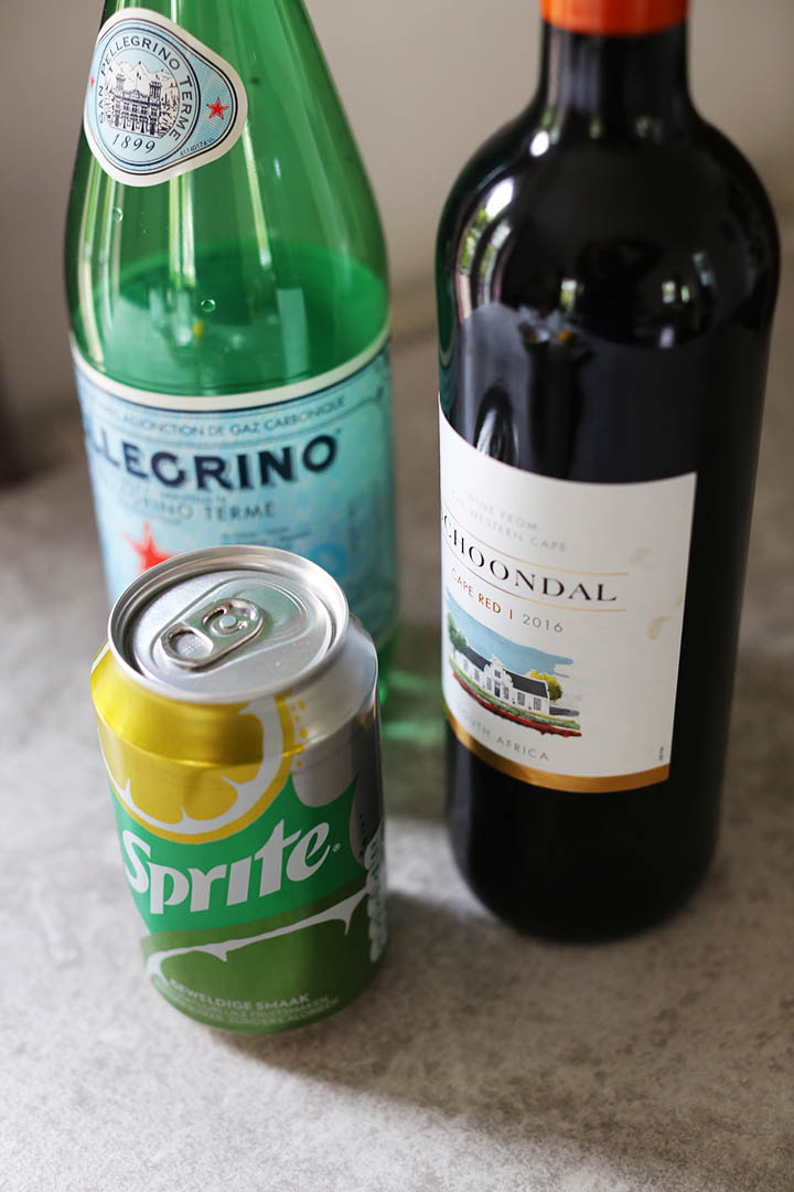 Taste of Summer Tinto de Verano ingredients