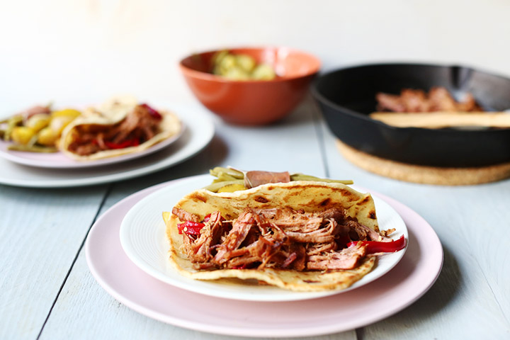Tender carnitas tenderloin tacos side II