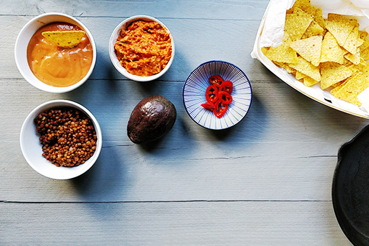The ultimate vegan lentils nacho ingredients