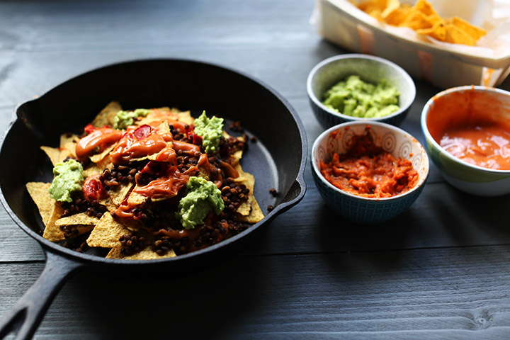 The ultimate vegan lentils nachos right