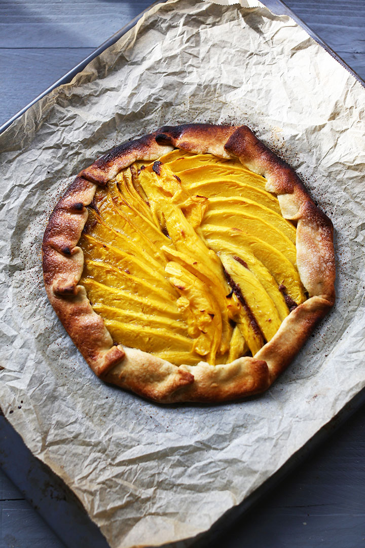 Mango nutty nutella pie galette