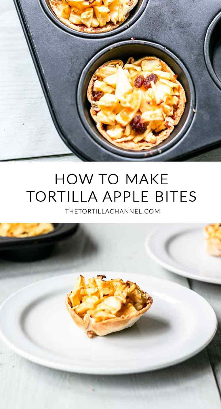 The best tortilla apple bites are real easy to make. Vegan, naturally sweet and so cute like a mini apple pie. Visit thetortillachannel.com for the full recipe. #thetortillachannel #applebites #tortillas #sweettortillas #applebiterecipe #tortillaapplebites