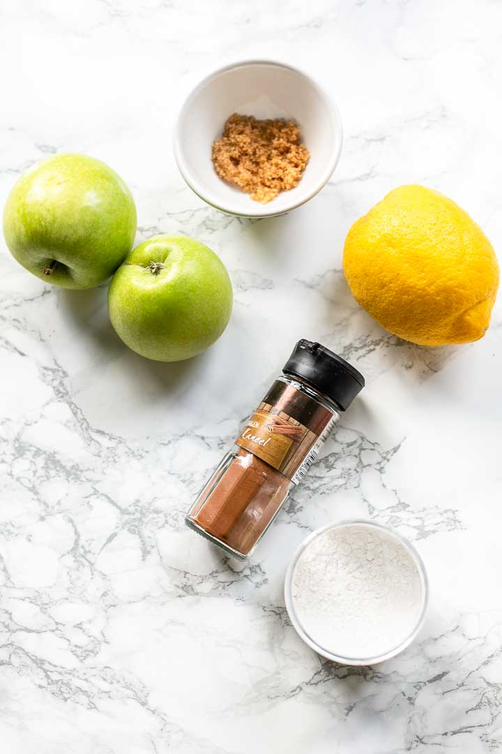 Apple pie filling is a delicious and easy to make. Done in less than 15 minutes. Always have a jar in the fridge or put it in the freezer. Visit thetortillachannel.com for the full recipe #thetortillachannel #applepiefilling #applepiefillingrecipe