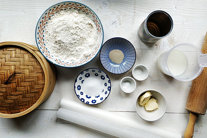 Easy Chinese steamed buns ingredients