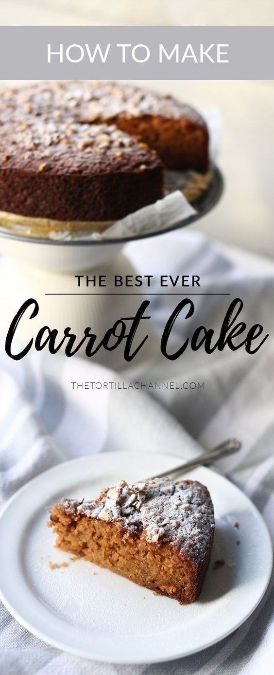 The best Carrot Cake recipe. This cake is gluten free. Made with apple to keep it moist and soft. Visit the website for the step by step instruction or pin it now so you can use it later.