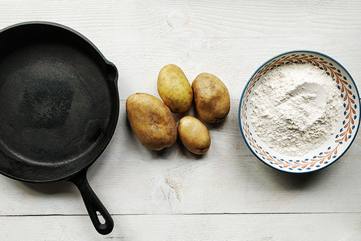 how to make potato flatbread roti ingredients