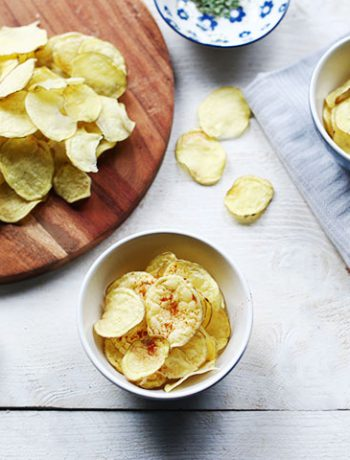 Easy to make crisp natural no fat potato chips