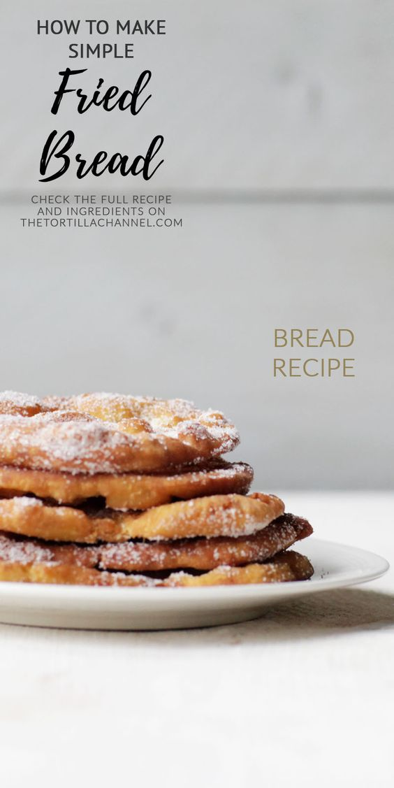 How to make simple fried bread. Only a couple of ingredients and delicious with sugar. Visit the website or pin it now so you can use it later.