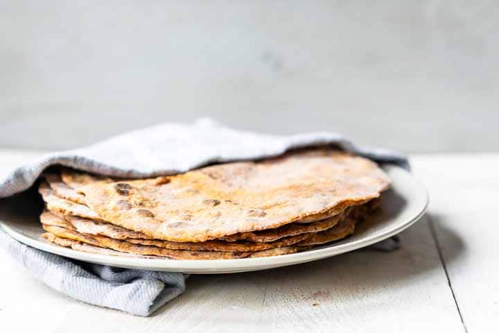 Sweet potato tortillas are the best soft flatbreads. This is an easy 2 ingredient recipe with additional seasoning. Visit thetortillachannel.com for the full recipe #thetortillachannel #sweetpotatotortillas #sweetpotatoflatbread #sweetpotatowraps #tortillas #flatbread #sidedish