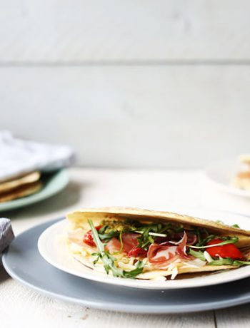 Original Parma ham and mozzarella Italian Piadina