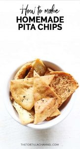 Homemade pita chips is a healthy snack. It is oven baked and seasoned with great spices. Looking for a tasty snack try this pita chips recipe. Visit thetortillachannel.com for the full recipe and video #thetortillachannel #pitachips #ovenbakedpitachips #bakedpitachips #chips
