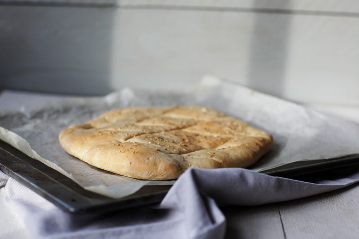 Turkish Pide bread recipe. A whole bread. Easy to make. Visit the website or pin it now.
