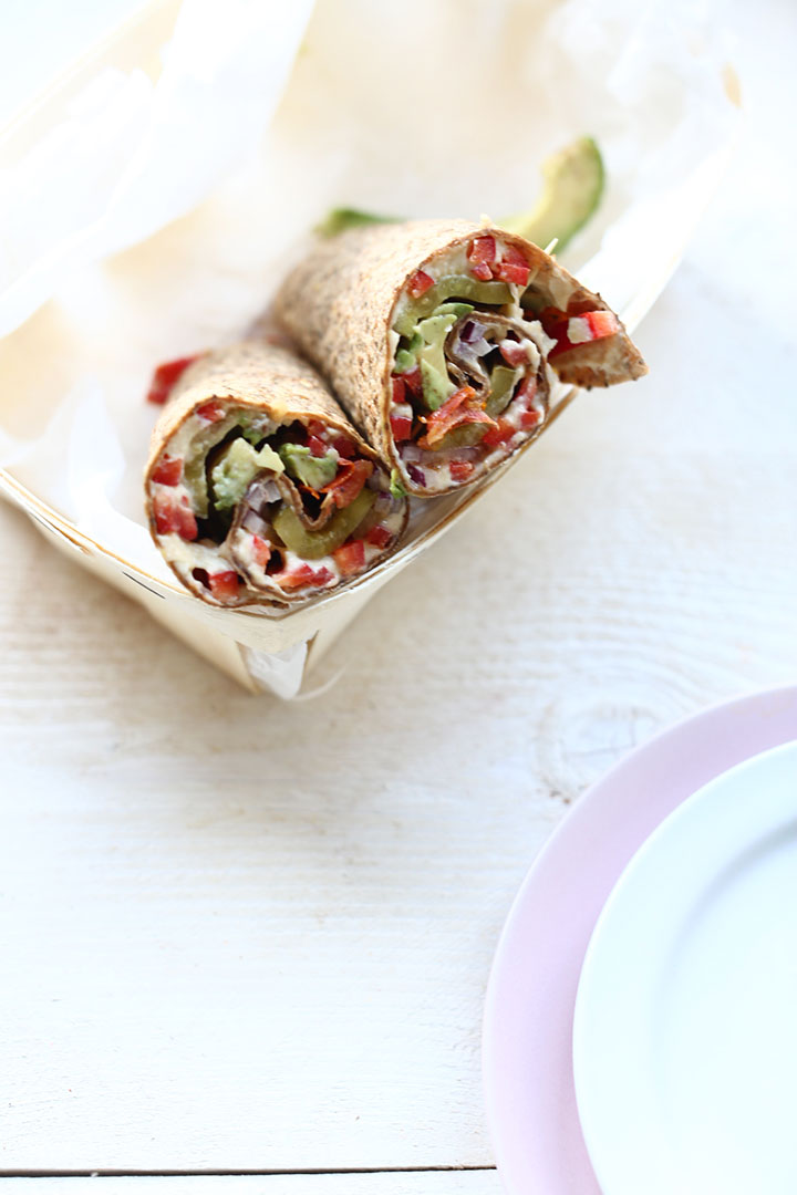 This vegan lunch tortilla is a great lunch wrap idea. It has lots of vegetables and is a real smart wrap. Want to make this healthy vegan lunch wrap visit https://thetortillachannel.com