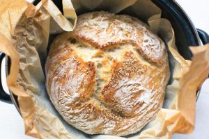 Easy no knead bread recipe. Baked in a Dutch oven. Delicious bread with a crunchy crust. Visit thetortillachannel.com for the (video) instructions.