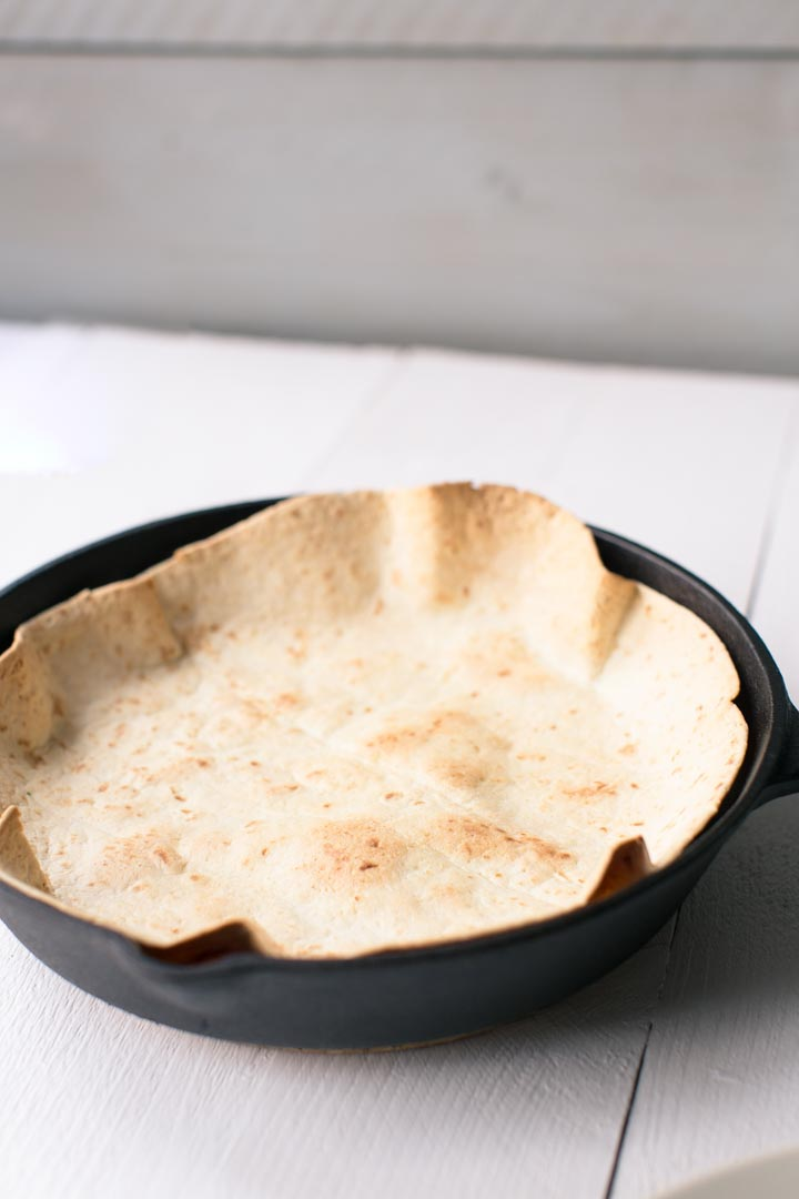 How to make oven baked tortilla taco salad bowl. A very easy way to make a decorate bowl for your salad, enchilada bowl or taco. Visit thetortillachannel.com for the (video) instructions.