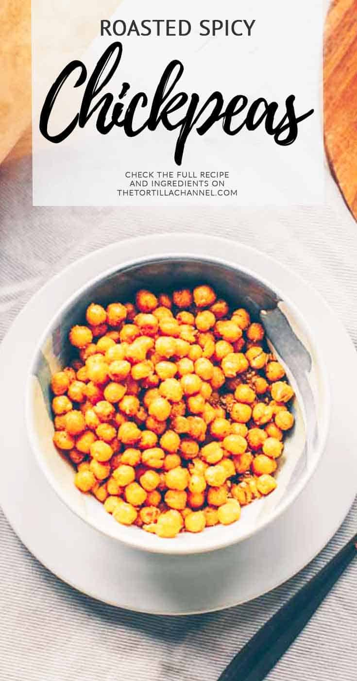 Roasted spicy chickpeas. Low fat and a great snack. Visit thetortillachannel.com for all instructions.