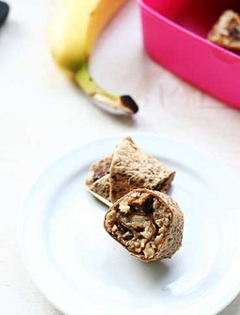 Sweet tortilla peanut butter rollups have peanut butter, apple pie filling and more great ingredients.