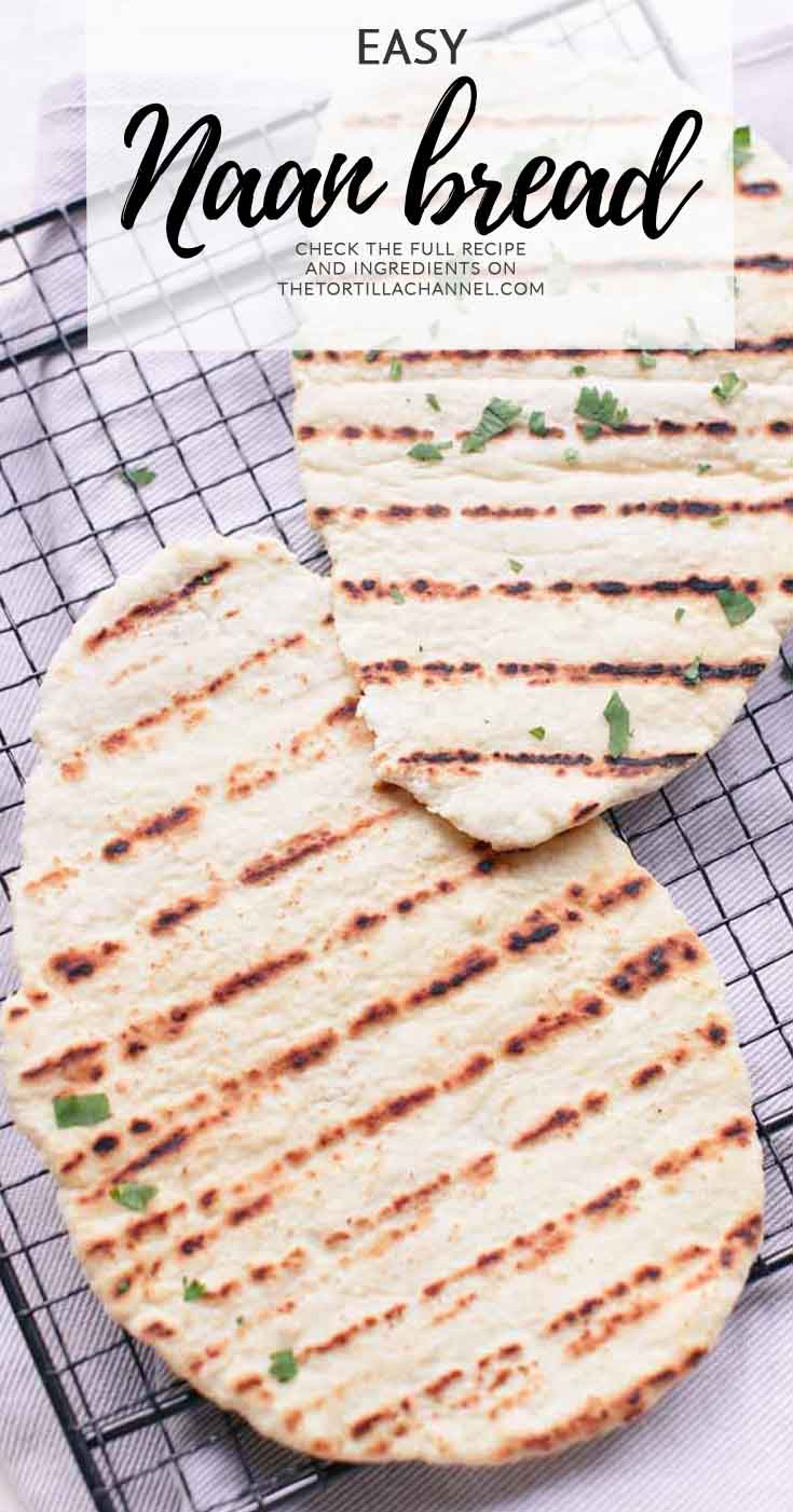The easiest naan bread recipe made with 5 ingredients. Quick and easy visit thetortillachannel.com for the (video) instructions.