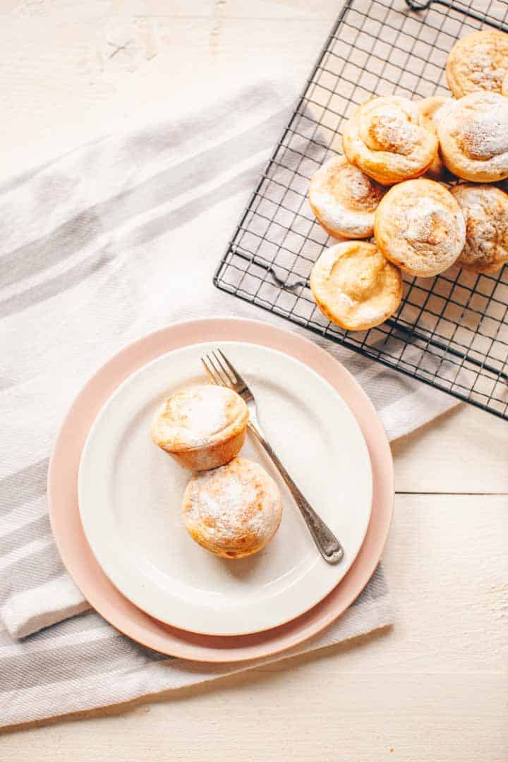 Sweet pancake muffin bites. Made with pancake batter, eggs and icing sugar. Visit thetortillachannel.com for the instructions with video.