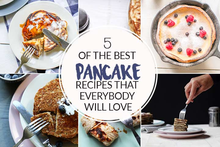 5 of the best pancake recipes with vegan pancakes, gluten-free pancakes, fluffy pancakes or Dutch pancakes. Want to make visit thetortillachannel.com #pancakes #veganpancakes #glutenfreepancakes #coconutpancakes #thebestpancakes