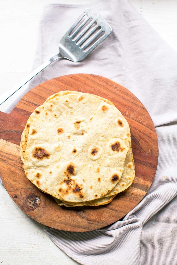 Easy yufka flatbread tortilla is a vegan flatbread. The Turkish version of the tortilla. Great with dinner or lunch. Want to make it visit thetortillachannel.com #tortilla #yufka #turkishflatbread #turkishyufka #turkishtortilla #vegantortilla