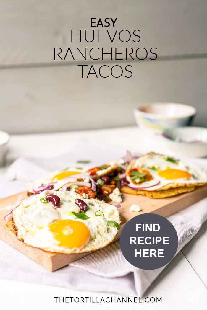 Why huevos rancheros are the best breakfast for the weekend breakfast or a lunch? Because the are easy to make, hearty and delicious. Visit thetortillachannel.com for the recipe #huevosrancheros #huevosrancherostacos #tacorecipe #breakfasttortilla #lunchtortilla