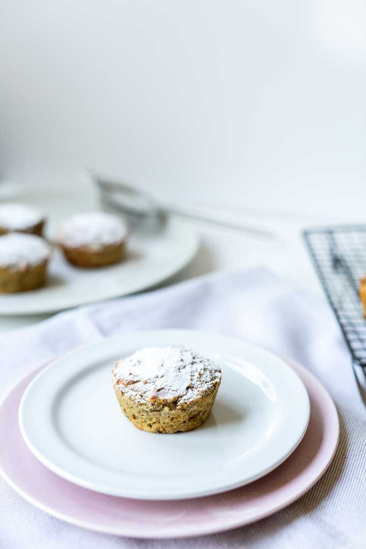 Almond flour lemon chia seeds muffins. A great vegan and low carb friendly recipe. Want to make this recipe visit thetortillachannel.com #almondmuffins #almondchiamuffins #ketofriendly #ketofriendlymuffins #lowcarbmuffins