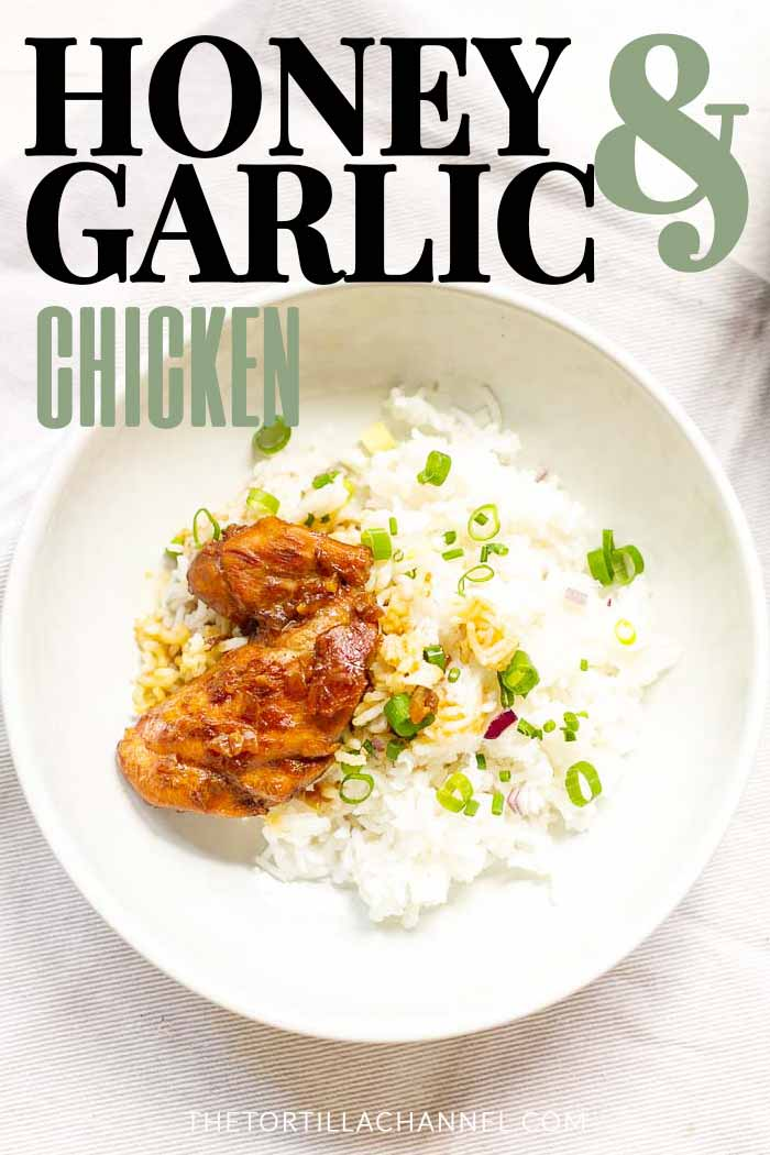 How to make honey garlic chicken is a great dinner recipe. Easy to make and done in 20 minutes. Visit thetortillachannel.com #honeygarlicchicken #chickenrecipe #dinnerrecipe #garlichoneychicken #honeygarlic