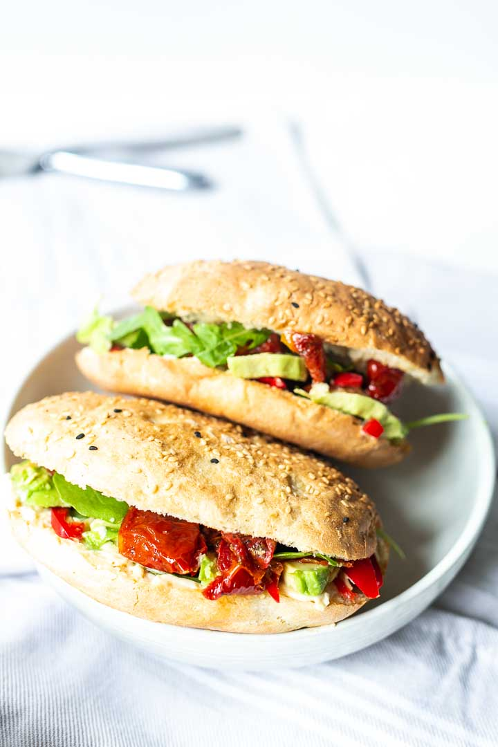 How to make wonderful vegan Turkish bread sandwich. Delicious lunch or brunch recipe. Want to make it thetortillachannel.com #vegansandwich #veganturkishbread #veganturkishbreadsandwich #turkishpide #turkishpidebread #pidebreadsandwich