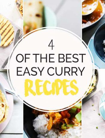 4 of the best easy curry recipes. Delicious curry dinner options that you can eat with flatbread, naan or tortilla. #thebestcurry #thetortillachannel #vegancurry #thaicurry #thayredcurry #yelllowcurry #greencurry