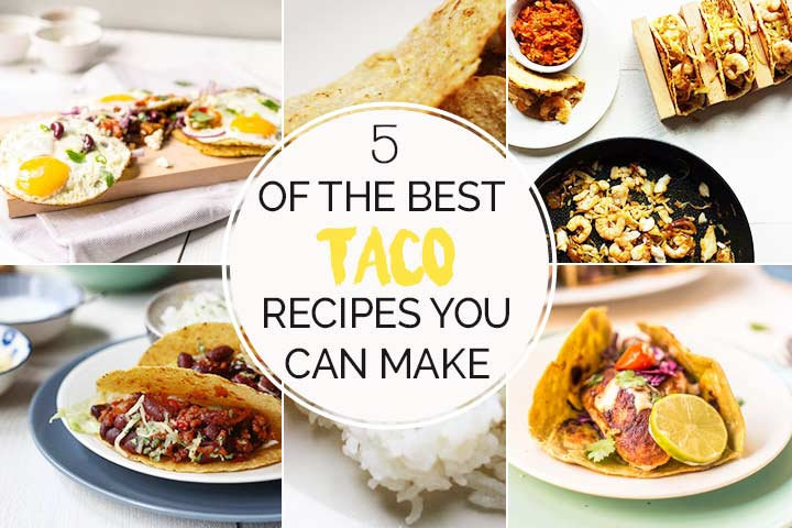 5 of the best taco recipes either for breakfast or dinner. With fish, egg and meat. Want to give these a try. #thetortillachannel #besttacos #5besttacorecipes #tacorecipes