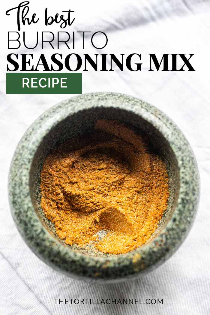 Want to season your burrito meat or vegan recipes try this homemade burrito seasoning. Easy to make, cheap and done in no time. #thetortillachannel #burritoseasoning #burritospicemix #burritomix #easyseasoning #cheapseasoningmix