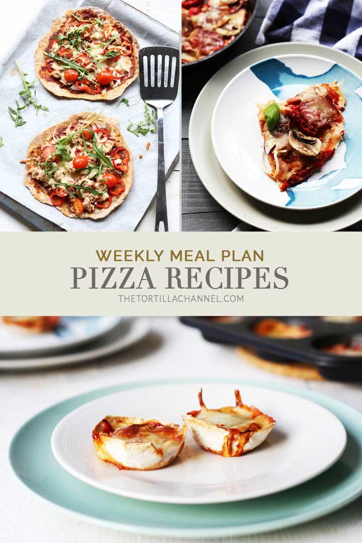 Weekly meal plan pizza recipes with the best pizza recipes main courses and pizza snacks. #thetortillachannel #pizzarecipe #fastpizzarecipes #veganpizza #shrimppizzarecipes
