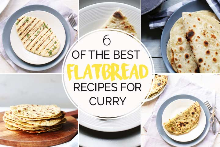 6 flatbread for curry show great flatbread recipes for all your curries. Give them a try #thetortillachannel #veganflatbread #potatoflatbread #chickpeaflatbread #garlicandherbflatbread #paratha #avocadoparatha #naanbread