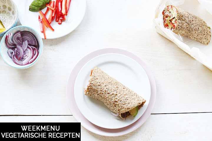 Weekmenu met vegetarische recepten voor het avondeten of dessert #thetortillachannel #vegetarischweekmenu