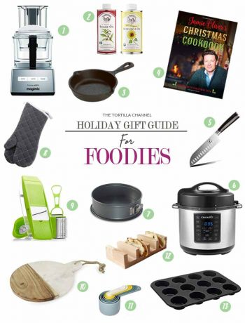Holiday gift guide sharing my favorite gift ideas and personal wish items. Hope you find great holiday gift for your home cook. #thetortillachannel #kitchengiftguide #shoppinglist #giftguide #foodiegiftguide