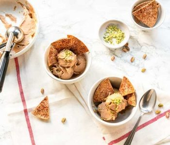 Easy nice cream you can eat everyday. This vegan ice cream contains no dairy but is still soft and tasty. Visit thetortillachannel.com for the full recipe. #thetortillachannel #nicecream #veganicecream #dairyfreeicecream #guiltfreenicecream