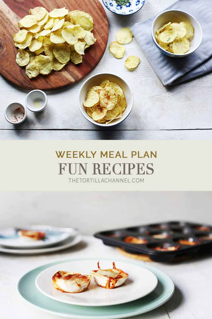 Weekly meal plan with fun recipes that you can make with your kids or on your own during the holidays. A wide selection of sweet and savory recipes #thetortillachannel #weeklymealplan #funrecipes